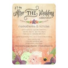 wedding party invitations watercolor flowers after wedding party invitations zazzle