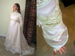hand made michelle 1970s wedding gown renaissance prairie