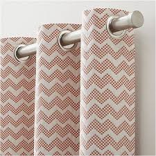 Chevron Pattern Curtains Reilly Orange Chevron Curtains Crate And Barrel