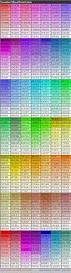 complete html true color chart table of color codes for html