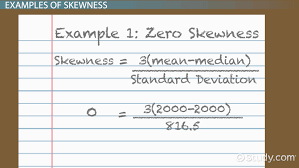 skewness in statistics definition formula u0026 example video