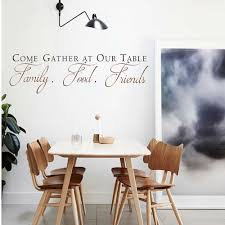online get cheap kitchen quotes wall decals aliexpress com come gather at our table decal quotes wall sticker vinyl dining room wall art kitchen quote