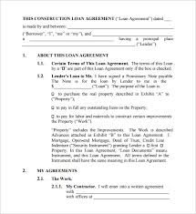 loan contract template u2013 26 examples in word pdf freesample