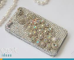 Fine Crystal 3d Fine Crystal Rhinestone Apple Iphone 4s Iphone 4 Skin Case