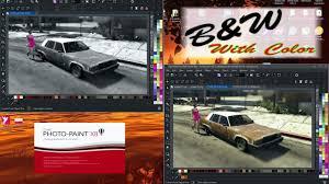 corel photo paint x8 convert to b u0026w leaving some color tutorial