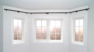 Installing Drapery Rods Windows Rods For Bay Windows Ideas Bay Window Rod Ideas Easy Hang