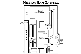 mission santa clara de asis floor plan san gabriel mission for visitors and students