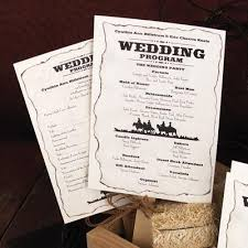 Fan Programs For Weddings Wedding Program Ideas