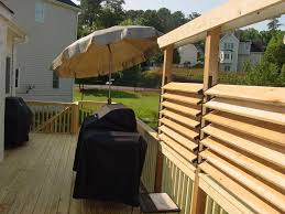 deck backyard ideas diy simple louvered privacy fence for deck patio in your