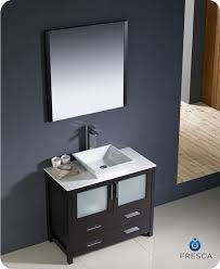 36 vessel sink vanity 36 torino espresso modern bathroom vanity w vessel sink platinum