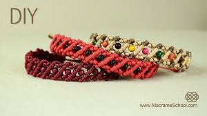 macrame bracelet with beads images Striped macrame bracelet with beads jewelry wonderhowto jpg