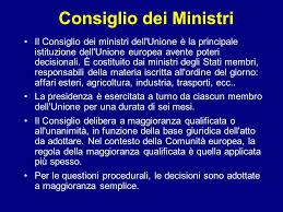consiglio dei ministri europeo istituzioni e poteri dell unione europea istituzioni ppt scaricare