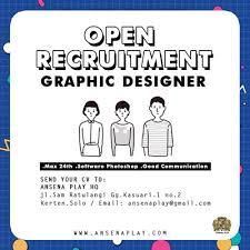 lowongan kerja desain solo lowongan kerja designer di cv ansena play indonesia solo loker