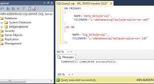 membuat database baru di sql server membuat database sql server sql server programming
