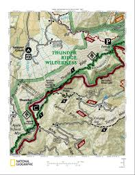Appalachian Trail Virginia Map by Thunder Ridge Trail