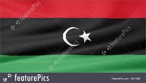 Libyas Flag Illustration Of Flag Of Libya Old