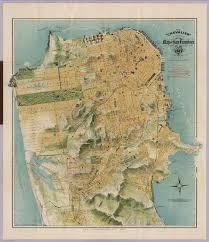 san francisco map for tourist the chevalier commercial pictorial and tourist map of san
