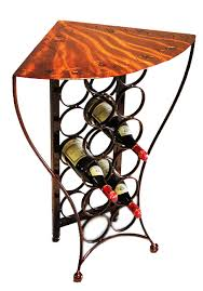 metal wine rack table wine rack table bentley designs provence oak console table with