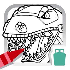 dino robot coloring book kids free fun painting games