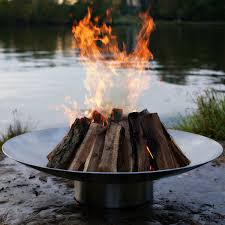Stainless Steel Firepit Stainless Pit By Rick Wittrig Gas Wood Options