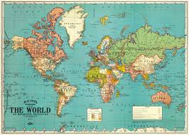 Us World Map by Stunning Vintage Repro World Map By Cavallini
