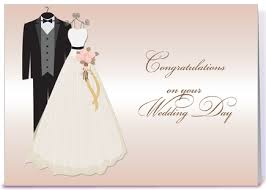 wedding congrats card wedding gown tuxedo wedding congrats greeting card by starstock