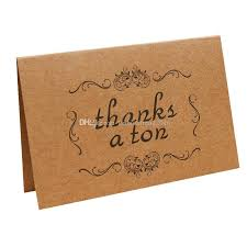 vintage kraft thank you cards for thanksgiving day birthday