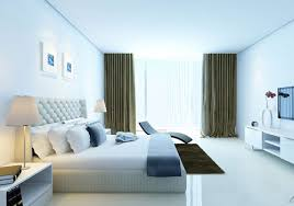 light blue bedroom color schemes and powder blue cream beige interior