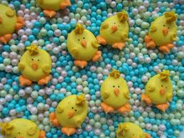 Easter Cake Edible Decorations royal icing chicks easter edible handmade cupcake toppers cake