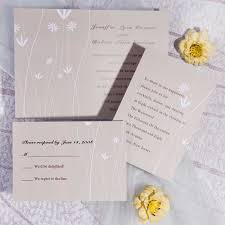 cheap wedding invitations online printable simple floral wedding invitations ewi182 as low as 0 94