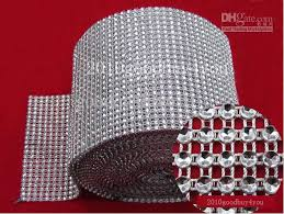 diamond mesh ribbon 5 yard bendable diamond mesh wrap roll silver sparkle rhinestone
