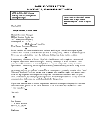 Block Letter Formatting by Cover Letter Example Cover Letter Sample Cover Letter Sample With