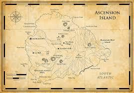 ascension islands map ascension britain treasure island