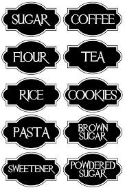 black and white kitchen canisters free printable kitchen organizing labels spice jar labels also in