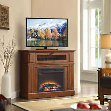 Tv Stands With Electric Fireplace Media Fireplace Brown Tv Stand Electric Heater Flame 1500w Corner