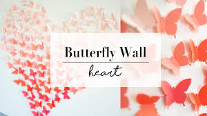 diy paper butterfly wall decor wedding ideas le