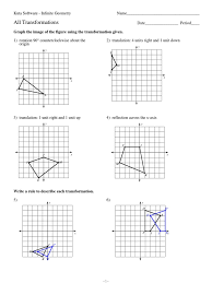 Reflections And Rotations Worksheet Geometry Transformations Worksheet Worksheets For Dropwin