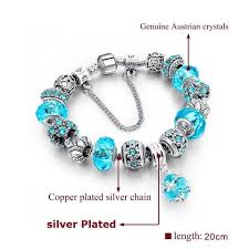european style charm bracelet images Silver charm bracelets for women with crystal pandora style jpg