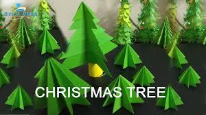 super easy origami christmas tree tutorial diy paper 3d