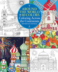 amazon com around the world in 80 colors coloring across the