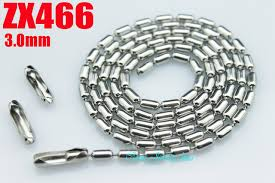 stainless ball chain necklace images 14 quot 38 quot stainless steel necklace 3mm long bamboo ball chain beads jpg