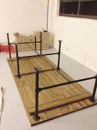 Outdoor Table Legs Pipe Leg Table And Other Modern Industrial Techie Looking Office