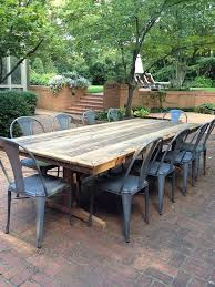 Building Outdoor Wood Table by Best 25 Outdoor Farm Table Ideas On Pinterest Outdoor Table