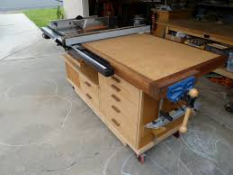 table saw station plans phil s tablesaw work station the wood whisperer