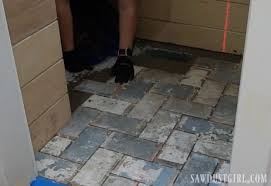 how to install tile flush with hardwood floors sawdust