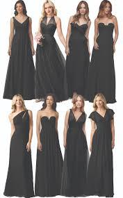 black bridesmaid dresses best 25 black bridesmaid dresses ideas on black