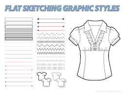 flat sketching graphic styles for adobe illustrator goodies