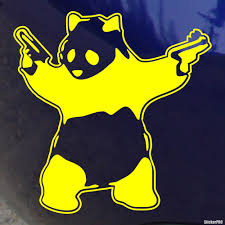 jdm panda sticker decal gangsta panda buy vinyl decals for car or interior decal