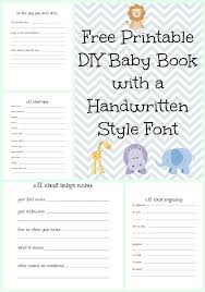 baby book ideas make a diy baby book with a handwritten style font with free