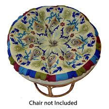 textileshop papasan peacock sage overstuffed chair cushion